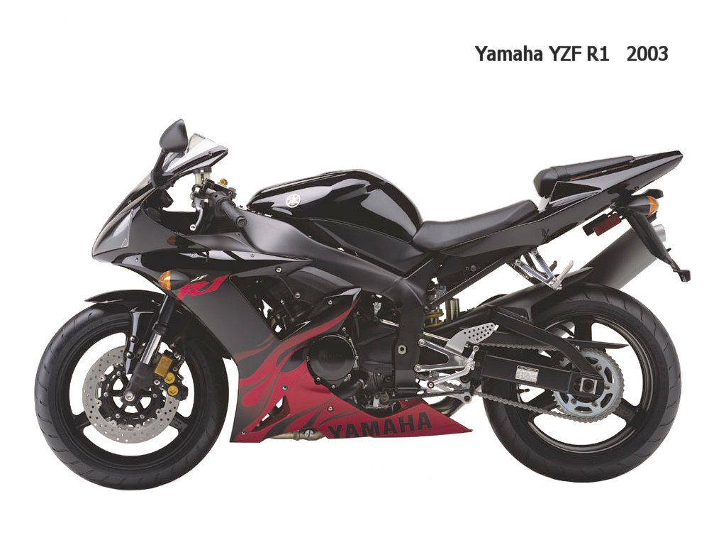 Black and red ... Yamaha R1